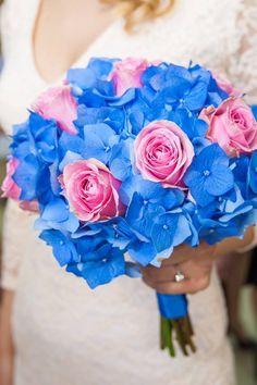 buchet mireasa alb roz albastru - Căutare Google