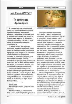Pasărea ceţii: Publicat in Revista Noua