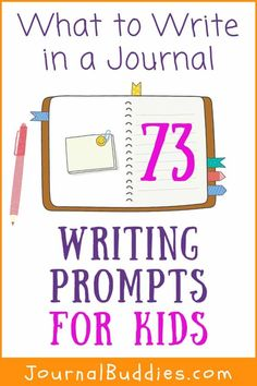 Look here! Your students are going to love these What to Write in a Journal prompts. Here are lots of ideas for students to write about in school - or at home! When you make writing fun, your middle school students will want to keep on writing into high school! #WhatToWriteInAJournal #JournalWritingIdeasForStudents #JournalBuddies