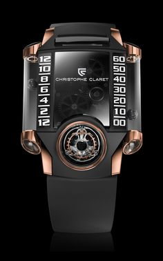 Christophe Claret X-TREM 1 30 degree inclined tourbillon cage with magnetic spheres on tubular case Cool Watches, Watches For Men, Men's Watches, Unique Watches, Ray Ban Sunglasses Outlet, Swagg, Luxury Watches, Cool Stuff, Stuff To Buy