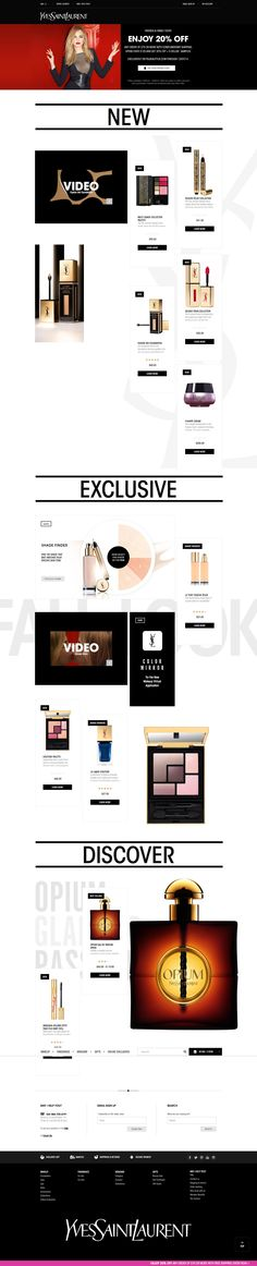 Yves Saint Laurent Desktop Home Page Homepage is less of a grid and more of a…