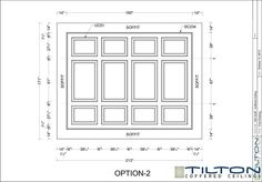 Coffered Ceiling Design Drawing - Square Grid 25