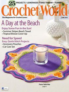 Crochet world giugno 2013 by Lidia Montermini - issuu Crochet Cross, Easy Crochet, Crochet Baby, Free Crochet, Knit Crochet, Crochet Sweaters, Ravelry Crochet, Thread Crochet, Crochet Clothes