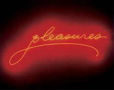 Pleasures by Sylvie Fleury (2001)