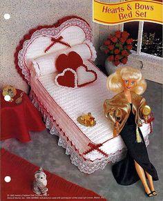 móveis de crochê para boneca
