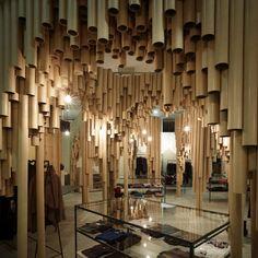 Interiorismo de lujo con cartón