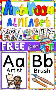 FREE Art Room Alphabet