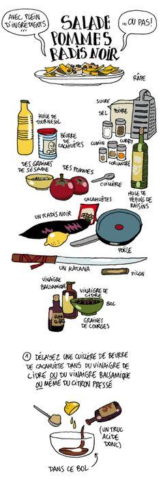 Salade pommes radis noir - Guillaume Long - A boire et à manger