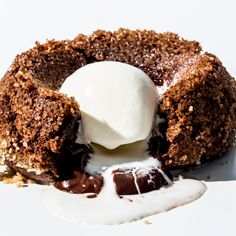 BA's Best Molten Chocolate Cake Recipe A deep chocolate lava cake recipe with a liquid chocolate center. Chocolate Lava Cake, Chocolate Desserts, Flourless Chocolate, Chocolate Ganache, Monkey Bread, Food Trucks, Lava Cake Recipes, Dessert Recipes, Pasta Recipes
