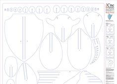 PUZZLE de cabeza de Toro plantilla corte archivo por CncFactory