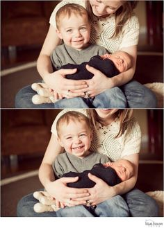 Cute mom/kids pose for a newborn sibling Newborn Family Pictures, Newborn Baby Photos, Baby Poses, Baby Pictures, Family Photos, Newborn Sibling, Foto Newborn, Newborn Shoot, Newborn Photography Poses