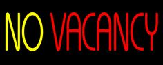 Animated No Vacancy without Border Neon Sign 13 Tall x 32 Wide x 3 Deep, is 100% Handcrafted with Real Glass Tube Neon Sign. !!! Made in USA !!!  Colors on the sign are Red and Yellow. Animated No Vacancy without Border Neon Sign is high impact, eye catching, real glass tube neon sign. This characteristic glow can attract customers like nothing else, virtually burning your identity into the minds of potential and future customers.