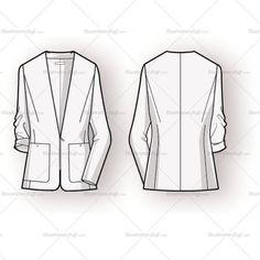 Women's Blazer Fashion Flat Template