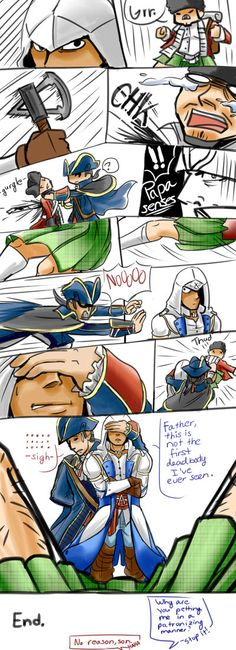 AC3 Trying to Protect Virtue by blacktenshi22 on deviantART assassin's creed 3