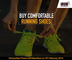 To be comfortable while you run, finding the correct shoe size is very important. When you shop for running shoes, always go in the afternoon as your feet will expand a little.