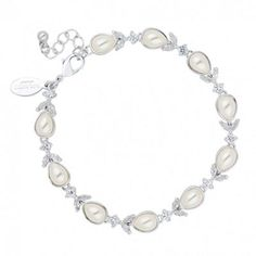 By John Richard At Debenhams Toe Rings Provided Floral Leaf And Ivory Pearl Necklace Jewelry & Watches