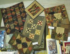 NEW Cheri Payne Patterns Just Arrived...  I am sooooo excited!!! Cheri brought by her three NEW PATTERNS and is allowing us to display two sets of the original quilts that go with them. I hope you can stop by the shop and take a look :)