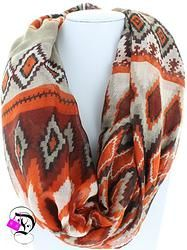 Rust Aztec Print Infinity Scarf $12.99 Divalicious Color Combinations, Plaid Scarf, Aztec, Rust, Infinity, Scarves, Pattern, Fashion, Color Combos
