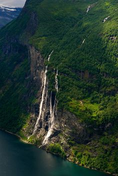 """Seven sisters"" waterfall - Geiranger, Norway"