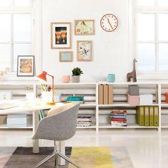 Beautiful home office inspiration (via Lundia)