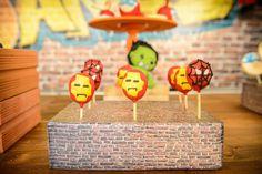 Super hero Birthday Party Ideas : Super Pops