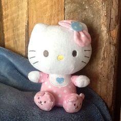 TY  Hello Kitty Pink Pajamas Rattle Beanie Babies Plush New - http://hobbies-toys.goshoppins.com/beanbag-plush/ty-hello-kitty-pink-pajamas-rattle-beanie-babies-plush-new/