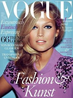 Toni Garrn - Vogue Germany - Vogue Germany August 2012 Cover