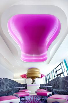 The NHow Hotel in Berlin design by Karim Rashid interior. Karim Rashid, Interior Design Magazine, Unique Hotels, Beautiful Hotels, Amazing Hotels, Top Hotels, Space Interiors, Hotel Interiors, Restaurant Interiors