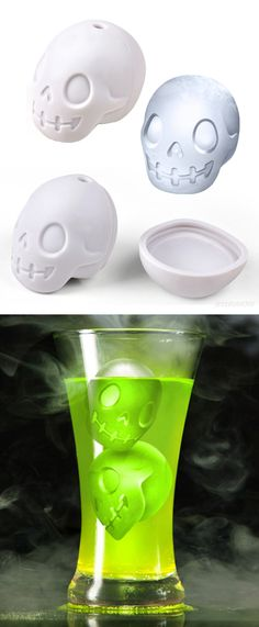Skull ice cube mold - perfect for Halloween! #product_design