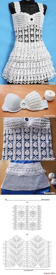 Knitting: top and skirt.