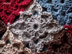 Crochet Granny Square:  This is a cute little square, only problem is it is a free pattern, but you need to log in.  Hmmmft!  I say, magic ring, (sc ch2)8times in ring, join with sl st to 1st sc, (ch 5, sc in next sc) join with sl st to 1st sc, *(sc, 2dc, sc) in next loop, (sc dc, ch 3, dc, sc) in next loop repeat from * around.  (I haven't tried it, but that is my guess for when I do)