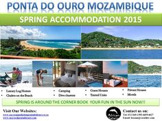 Accommodation in Ponta Do Ouro House Tent, Log Homes, Motel, Safari, The Unit, Camping, Luxury, Beach, Fun