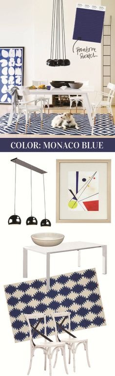 Get the Look With Monaco Blue Home Accents @Meg Biram