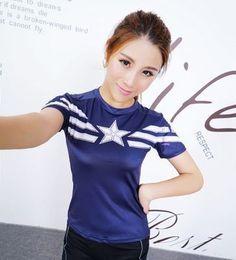 Women t-shirt bodys armour marvel captain america/superman/batman/Spiderman compression t shirt girl under tees fitness tights