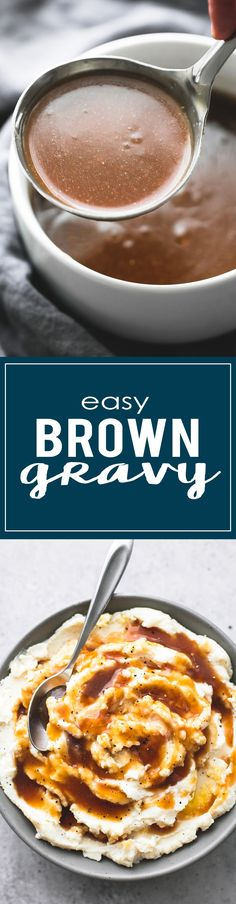 Easy Beef Broth Brown Gravy --easy to prep in just 10 minutes with only 5 ingredients, perfect for meats, potatoes, and more! | lecremedelacrumb.com