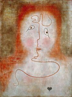 Paul Klee (Swiss German, 1879-1940), In the Magic Mirror, 1934. Oil on canvas, on board, 66 x 50 cm.