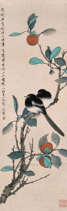 """Yu Feian(于非闇) ,《世世有喜》. 魁照出身于书香世家,从小受到了良好教育,接受了来自祖父和父亲的文化薰陶,兴趣倾向于诗文和书画篆刻。民国七年(1918年)他开始从民间画师王润暄(德顺)习画工笔花鸟草虫,凭着自己的悟性和努力自学踏上了画坛。""""五四""""运动前后,一批敏感的学者有感于中国画竞尚高简、崇尚仿古的风气,曾经大声疾呼美术的变革,他们一方面主张引进西画的写实主义,也同时主张复兴院画的写实作风,以救治中国画的""""弊端""""。"""