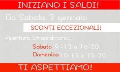 #Sconti speciali in negozio da Sabato 3 Gennaio! Scegli cosa desideri! >>> http://www.marsilistore.it/ #sales #promozione #NewYear
