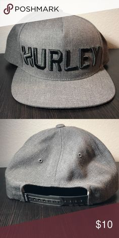 afb5e399b8f Hurley Hat Gray Hurley hat with a SnapBack. The SnapBack has seven  different measurements.