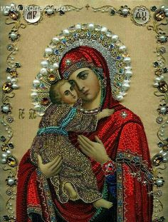Our Lady Son New Full Area Highlight Diamond Needlework Diy Diamond Painting Kit Diamond Cross Stitch Embroidery Religious Images, Religious Icons, Religious Art, Religious Paintings, Blessed Mother Mary, Blessed Virgin Mary, Church Icon, Queen Of Heaven, Mama Mary