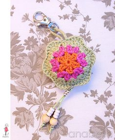 Crochet key chain by Anabelia