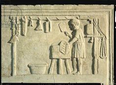 Roman Butcher's, relief (stone) (2nd cent.A.D.) - Museo della Civiltà Romana, Roma