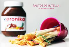 Recetas para niños: palitos de Nutella