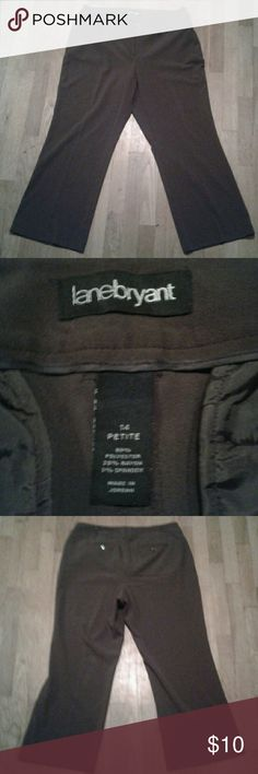"Lane Bryant Brown Women's Petite Size 14 Pants Semi-formal or business attire. Straight leg, two pockets in front and back. Either never worn or worn only 1 or 2 times.  Waist= 38"" Inseam= 28"" Lane Bryant Pants Straight Leg"