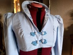 Regency Spenser with Embroidery and Frogs by VintageRecolleByAbby on Etsy