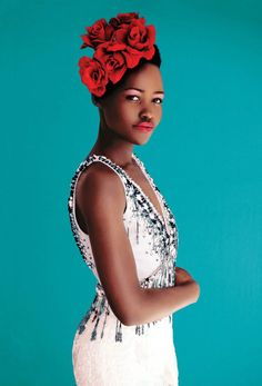 Lupita Nyong'o in a photo shoot for the spring issue New York Magazine, March 2014