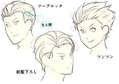 How to Draw Mens Slicked back Hairstyles