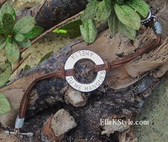 Leather Cord Washer Bracelet