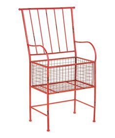 Look at this #zulilyfind! Red Rust Chair Planter #zulilyfinds
