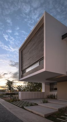 Image 1 of 28 from gallery of R+P House / ADI Arquitectura y Diseño Interior. Photograph by Oscar Hernandez Architecture Artists, Architecture Today, Modern Architecture Design, Residential Architecture, Modern House Plans, Modern House Design, House Gate Design, Facade House, Modern Landscaping